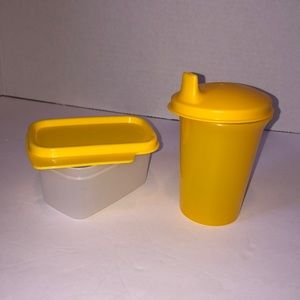 NEW Tupperware sippy cup & snack container